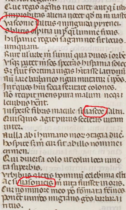 Epístola X fragmento. Ausonio-Paulino di Nola